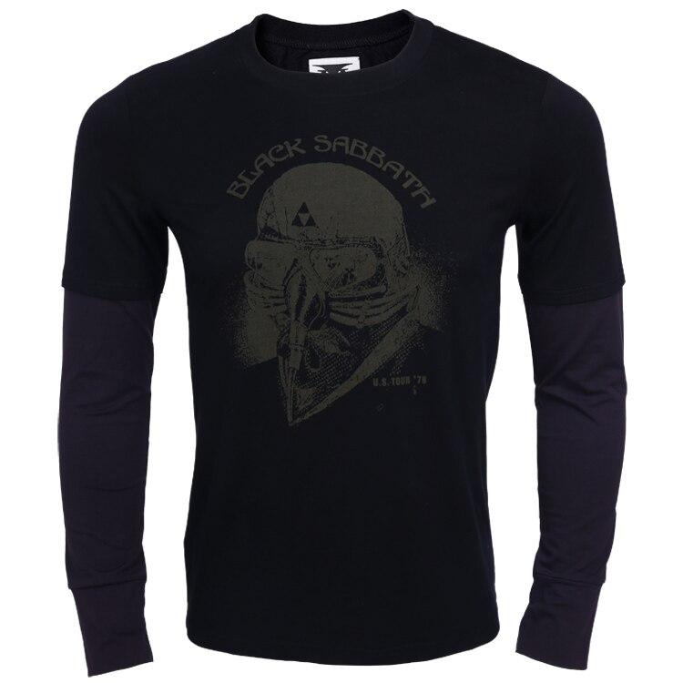 Black Sabbath Uns Tour 78 T shirt Erwachsene Schwarz drucken t-shirt iron...
