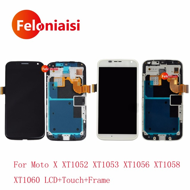 10Pcs DHL For Motorola Moto X XT1052 XT1053 XT1056 XT1058 XT1060 Lcd Display With Touch Screen Digitizer Assembly Complete+Frame