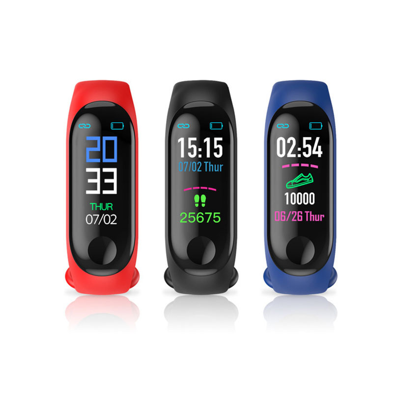 2019 New Watch Bracelet Heart Rate Blood Pressure Monitoring Waterproof Watches Step Counter Bluetooth Sports Wristwatch