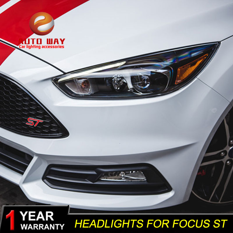 Car Styling Head Lamp case for Ford Focus ST LED Headlights 2015 2016 2017 DRL Daytime