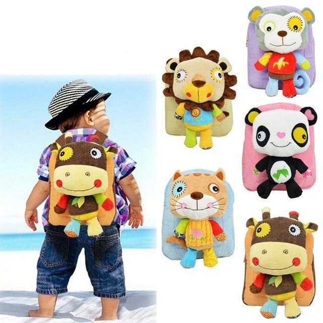 2c51c2535bd7 Infant Cute Baby Kids Snack Backpack Preschool Children Plush Nursery School  Bags Girls Boys Animal Figure Bag Stuffed Toy Doll