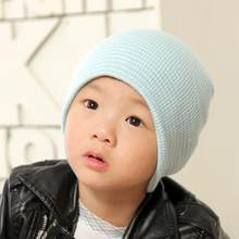 Baby Beanie Boy Girls Soft Hat Children Winter Warm Kids Knitted Cap winter keep warm children's striped outdoor hiking caps hat(China)