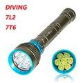 Дайвинг Фонарик 200 м Подводные XM-7 * L2 T6 LED Lanttern scuba Diver Факел Свет лампы для 3x18650 или 26650 для дайвинга