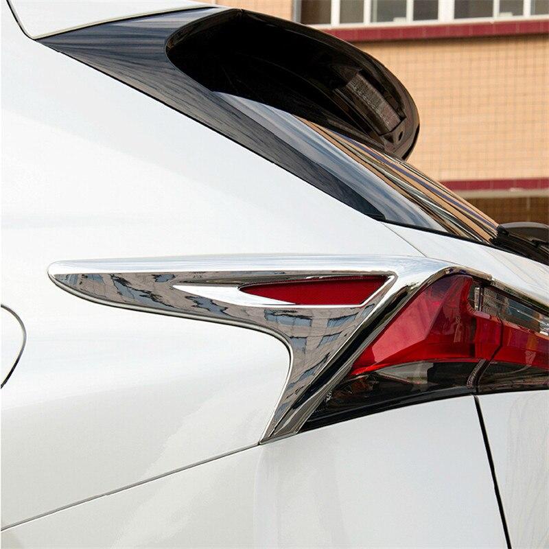 free shipping abs car tai light frame trim for lexus nx series nx200t nx300h  2014 2015 2016 2017 4pcs set window visor vent shade sun rain deflector guard shield for lexus nx nx200t nx300h 2015 car styling