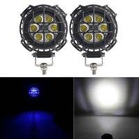 2Pcs 4 Inch LED Work Light Bar Spot Offroad Driving Fog Lamp 4000LM 4 LED Work Lamp for Truck Car ATV SUV ATV Jeep Boat
