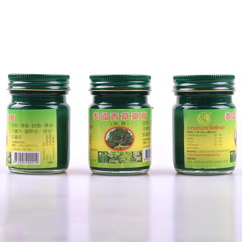 3pcs 50g/Bottle Thai Herbal Balm Headache Dizziness Joint Pain Ointment Summer Mosquito Bite Refresh massage cream L3 12pcs chinese tiger balm god medicine drive out mosquito summer cooling oil refresh brain influenza treatment headache dizziness