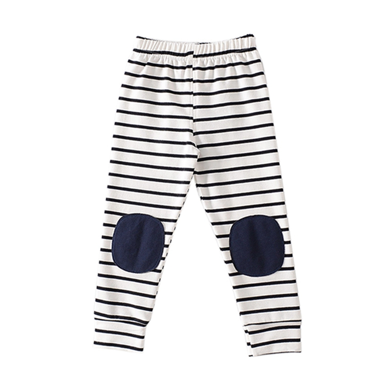 10cb493ac7ac Kids Baby Boys Girls Pants Stripes Cotton Cartoon Printed Knee pad Solid  Color Trousers Children Autumn Winter Casual Pants-in Pants from Mother    Kids on ...