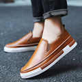 Leather Shoes Men Flats Ivory 2016 New Autumn Winter Dress Shoes Men Wedding Shoes Cute Flats Mens Loafers Zapatillas L083009