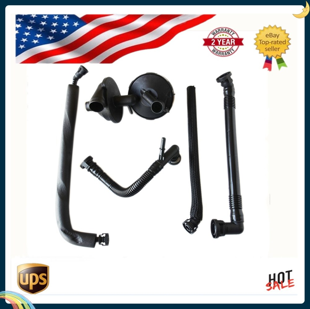 For BMW E46 325i 330i 325Xi 330Xi, 5 (E39) 7 X3 X5 Z3 Z4 PCV CRANKCASE VENT VALVE AND BREATHER HOSE KIT 11611432559 11157532649