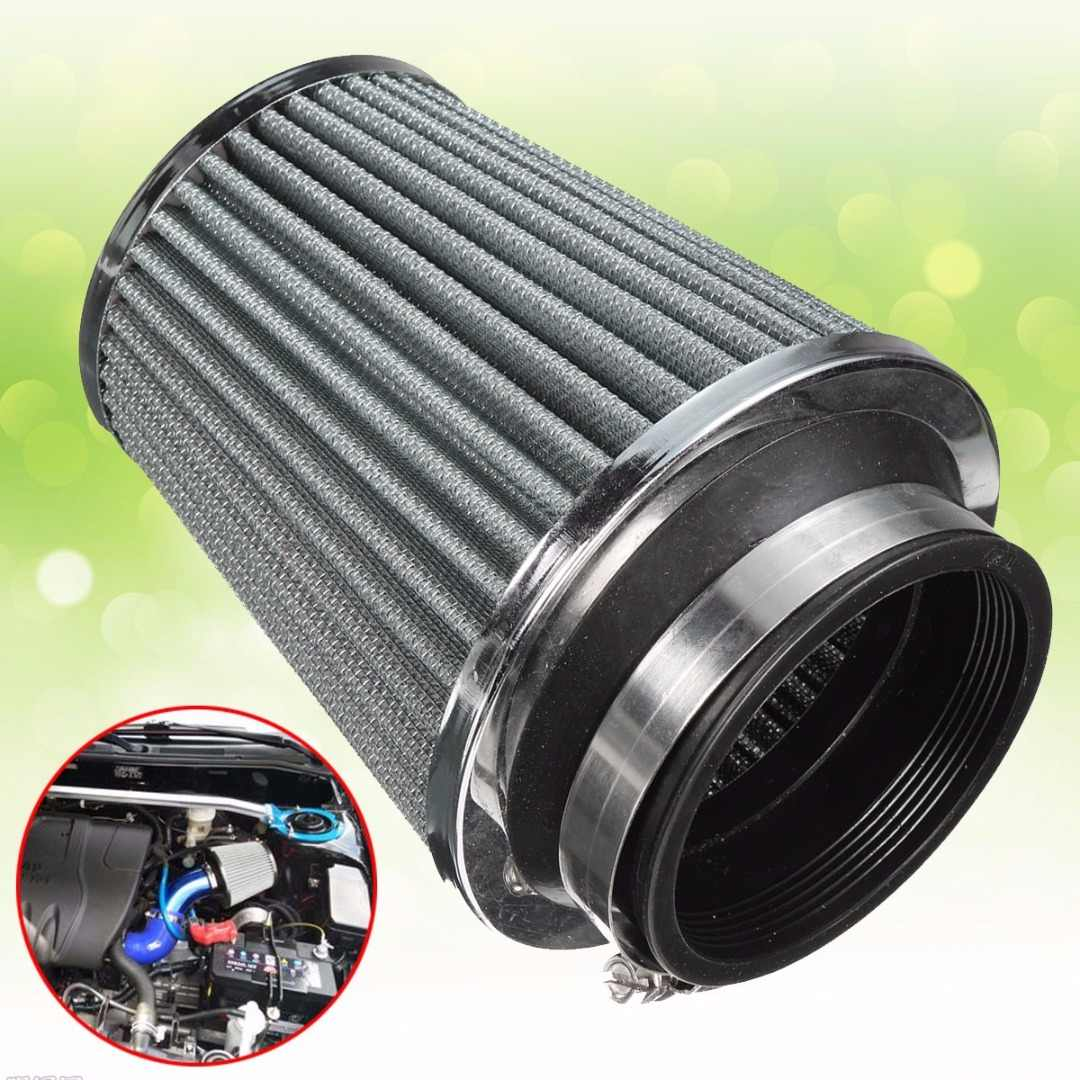 """3/"""" Short Ram Cold Air Intake Filter Round//Cone Universal BLACK For Chrysler 3"""