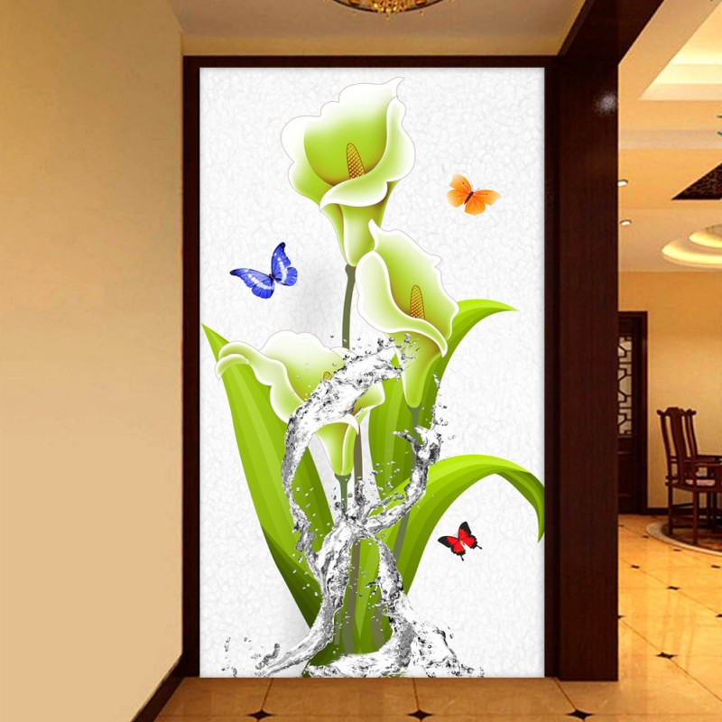 Custom photo wallpaper 3D stereo custom high quality mural flowers in the water background home decoration wallpaper the woman in the photo