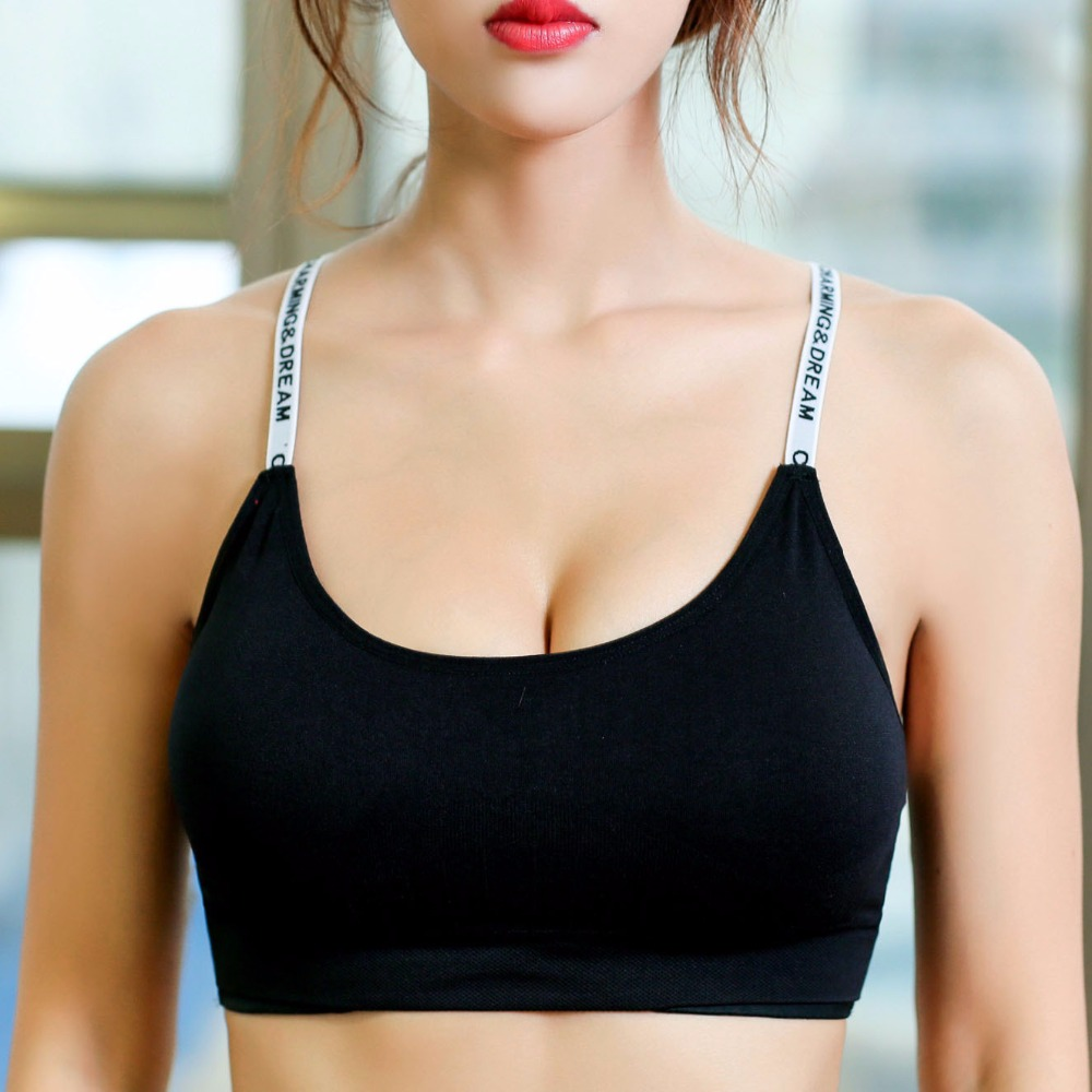 2017 Hot Women Push Up Bra Stretch Tank Top Summer Sporting Bra Clothing For Women cropped Fitness Wokout Bralette Crop Top Vest