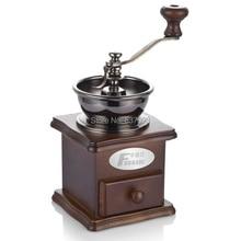 Fxunshi MD-802 бытовой кафе maker машина стороны кофе дома деревянные старинные мельница руководство кофе в зернах мясорубку смолоть кофе порошок