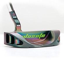 Golf clubs putter herren rechtshänder putter stahl welle Rund putter PVD schwarz Chromatische freies verschiffen