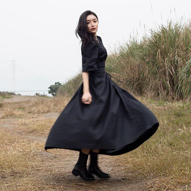Femelle Black Jupe xitao Décontracté Femmes Printemps Mode longueur Corée A 2019 Nouvelles Wbb2554 De Couleur Large Cheville Été Unie ligne 7wn74ZqvHx