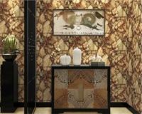 beibehang papel de parede Lifelike marble stone retro rock pvc wallpaper hotel works hotel decoration background 3d wallpaper