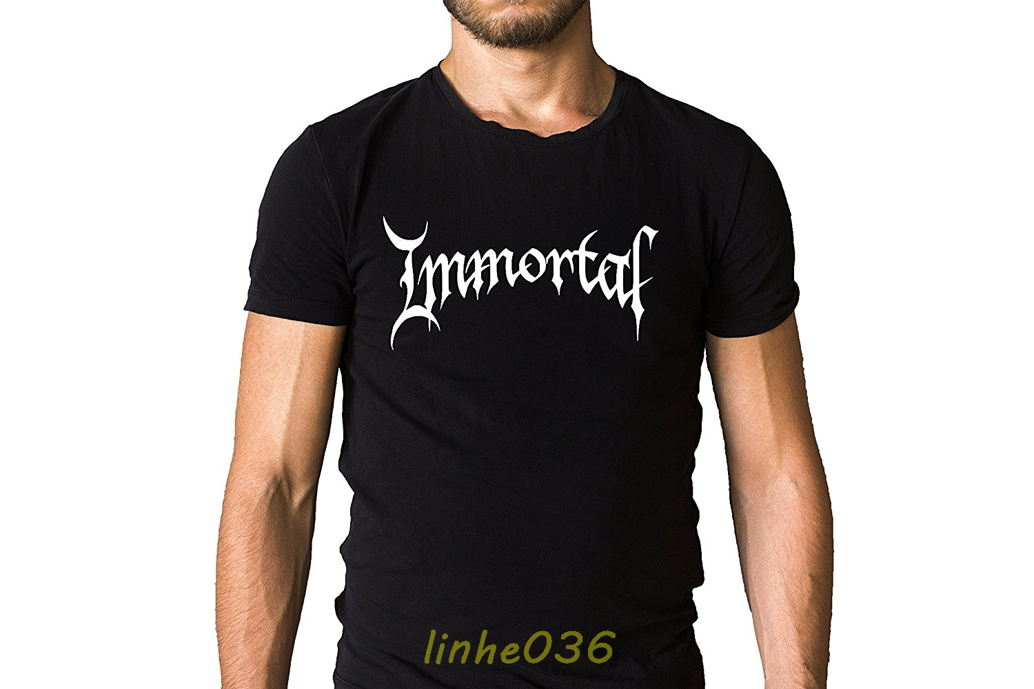 New Immortal Band Norway Metal Rock Band Men's Black T-Shirt Size S To 3XL New Fashion T Shirt Graphic Letter Normal Top Tee