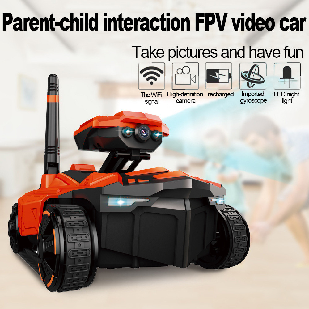 YD-211 RC Tank Wifi FPV 0.3MP Camera Robot Phone Controlled Car RC Spy Robot Battle Tank Mini APP Remote control Tank Toy устройство аккордеона