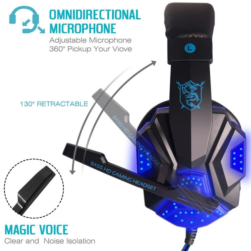 40mm žičani gaming slušalice Gamer slušalice Stereo duboko bas - Prijenosni audio i video - Foto 4