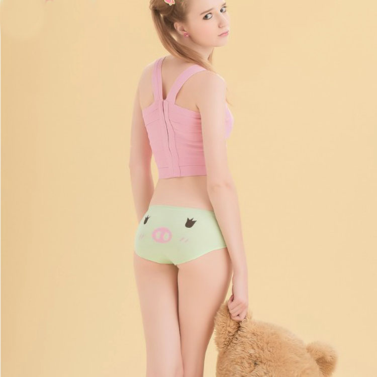 100% cotton panties female fried chicken antibiotic cartoon young girl student panties
