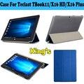 Estojo De Couro Pu Para Teclast X16 TBook 11X16 HD Plus PC, Capa protetora Para Teclast TBook11 X16HD X16Plus Com 4 Presentes