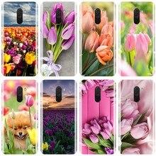 Tulipanes Flor de primavera campo amarillo Rosa rojo púrpura Teléfono funda para el redmi NOTE 4 5 5 5 6 6 7 nota 4X 5A 5 6 para redmi 4 4A 4X 5A 5 PLUS