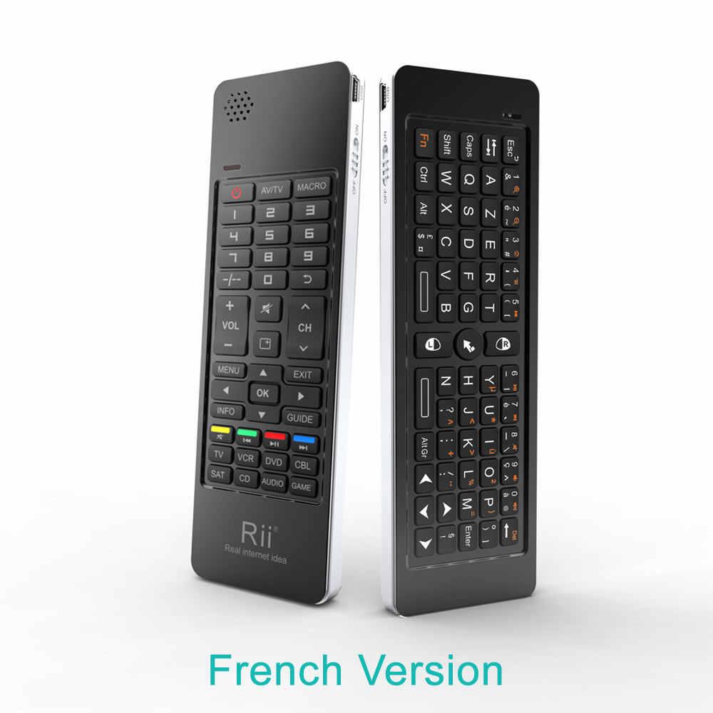Rii K13 ロシア/フランス/スペインミニワイヤレスキーボードマウスコンボ Mircophone スピーカー Ir リモートのための学習 PC の TV ボックス
