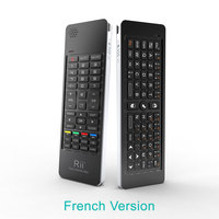 Rii K13 Russian/French/Spanish Mini Wireless Keyboard Fly Air Mouse Combos Mircophone Speaker IR Remote learning For PC TV Box