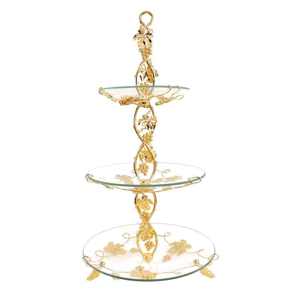 1 Set 3 Tier Cake Plate Stand Handle Crown Fitting Circle Round Display Wedding Party Hotel Dessert Decor Fruit Cupcake Stand-in Bowls from Home \u0026 Garden on ...  sc 1 st  AliExpress.com & 1 Set 3 Tier Cake Plate Stand Handle Crown Fitting Circle Round ...