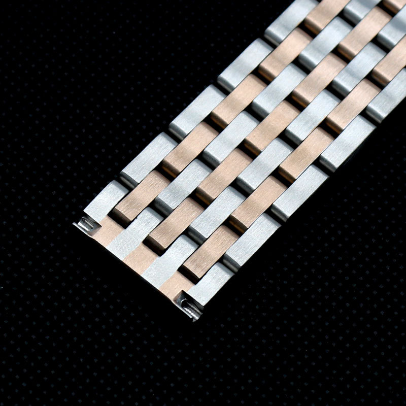 22 mm Butterfly buckle band bracelet watch stainless steel connection Metal gold