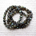 9mm  Blue Rainbow Light Round Crystal Quartz Beads Bracelets Women Ladies Stretch Charm Genuine Natural Labradorite Bracelet