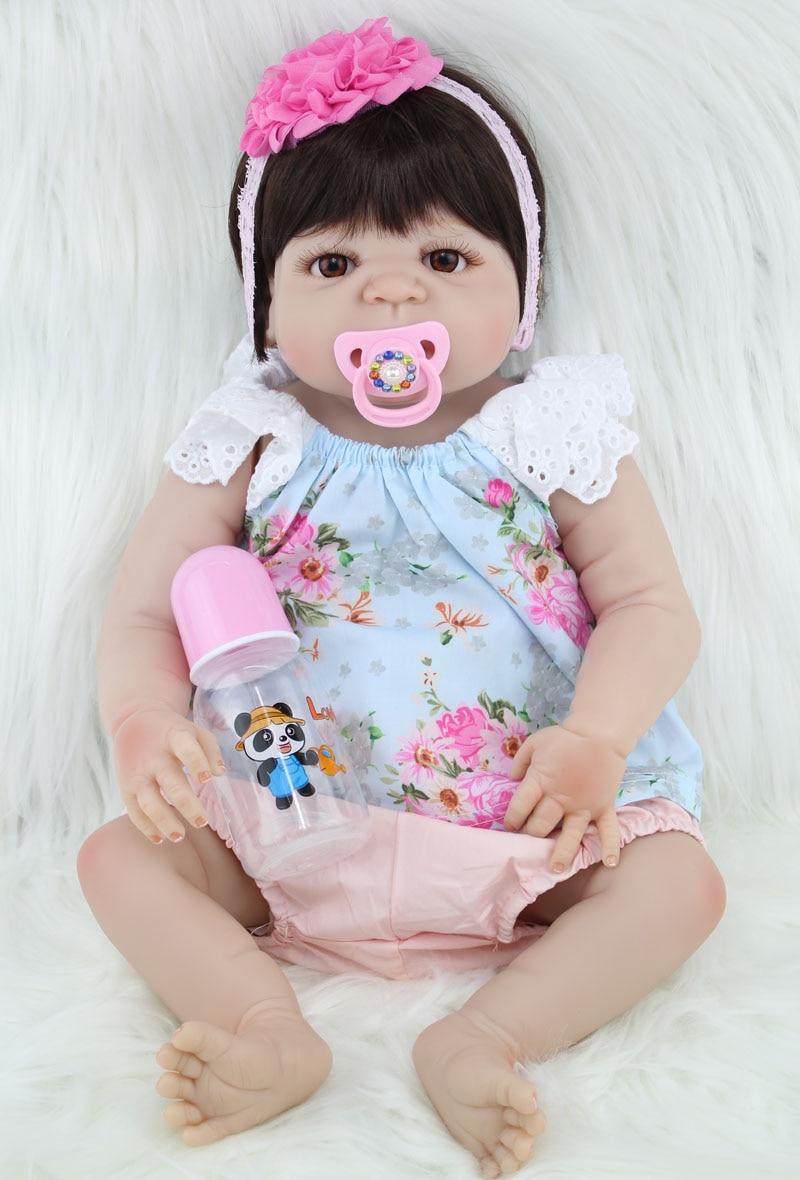 """BZDOLL 55 cm pełna silikon Reborn dziewczyna dziecko lalki 22 """"realistyczne noworodka księżniczka dzieci lalka na prezent urodzinowy kąpać zabawki w Lalki od Zabawki i hobby na  Grupa 2"""