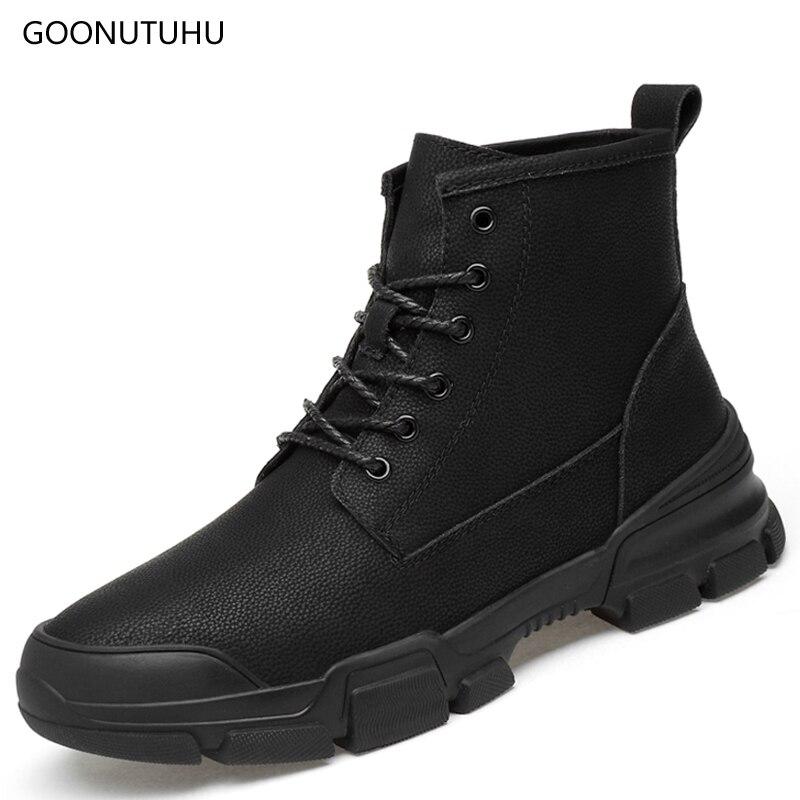 2018 nouveau hiver hommes bottes militaire de causalité travail chaussures cheville bot homme noir plus taille 37-47 neige chaussures tactique armée bottes pour hommes