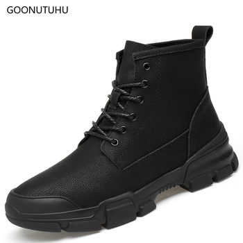2019 new winter men's boots military causal work shoes ankle bot man black plus size 37-47 snow shoe tactical army boots for men