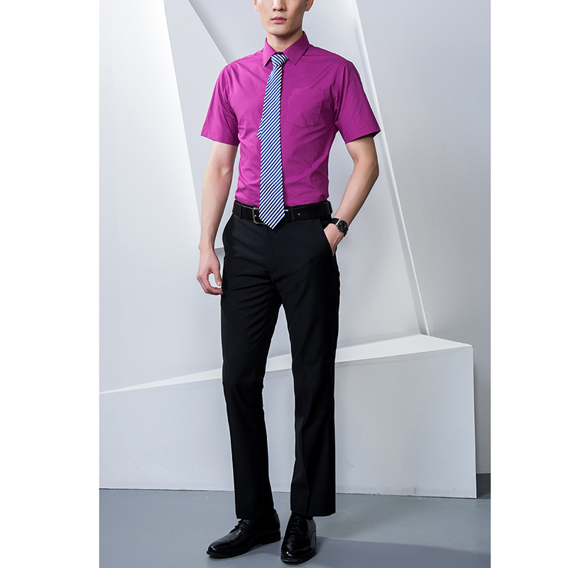 Mens Formal Business Shirt Office Work Wear Short Sleeve 100% Cotton Quality White Blue Black Red Colours