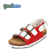 Mamimore New Summer Leisure Kids Gladiator Sandals Baby Boy Girl Children Rome Style Cork Outsole Beach Shoes Chaussure Enfant
