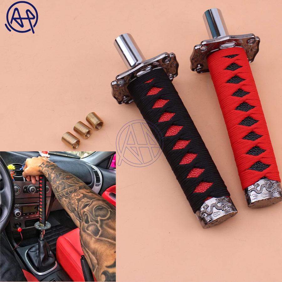 Constructive Universal Katana Sword Shape Car Gear Stick Metal Aluminum Cloth Shifter Lever Shift Knob For Manual Gear Automobiles At Cars Car Stickers Exterior Accessories