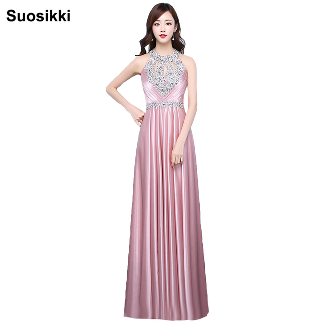 Suosikki Sparkly Satin Evening Dresses Long Formal prom party dress ...