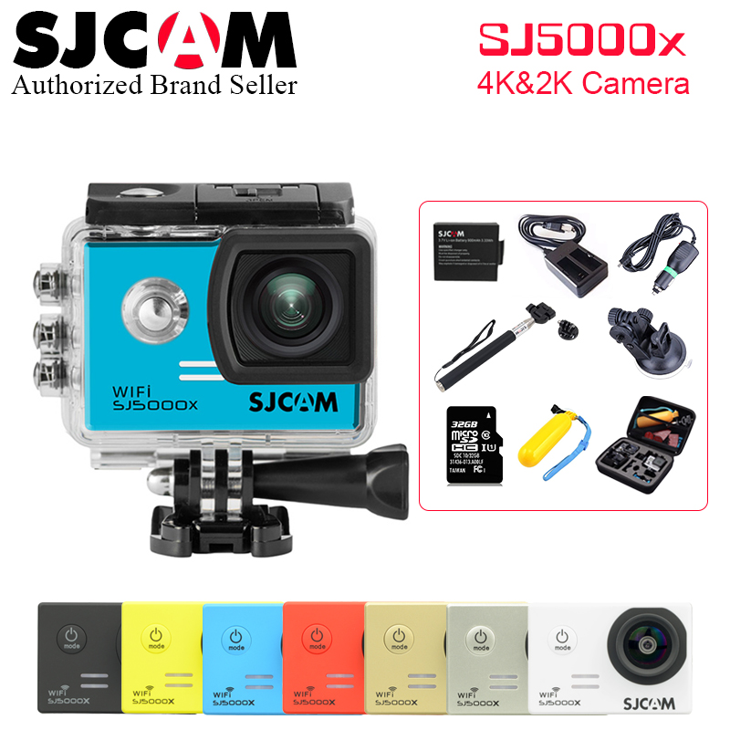 Original SJCAM SJ5000X Elite 4K 24fps 2K 30fps Gyro Action Cameras 30M Waterproof NTK966 ...