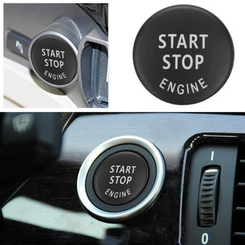 Car Engine START STOP Button Replace Switch Cover Accessories Key Decor for BMW X1 X5 E70 X6 E71 Z4 E89 3 5 Series E90 E91 E60 image