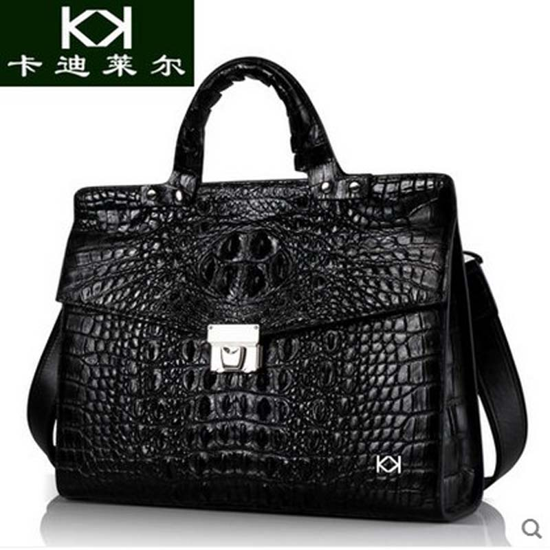 KADILER 2018 new hot free shipping women crocodile handbag business  leather men bags obliquely across men briefcase bag business across borders