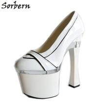 Großhandel round toe pumps 18cm heels Gallery Billig