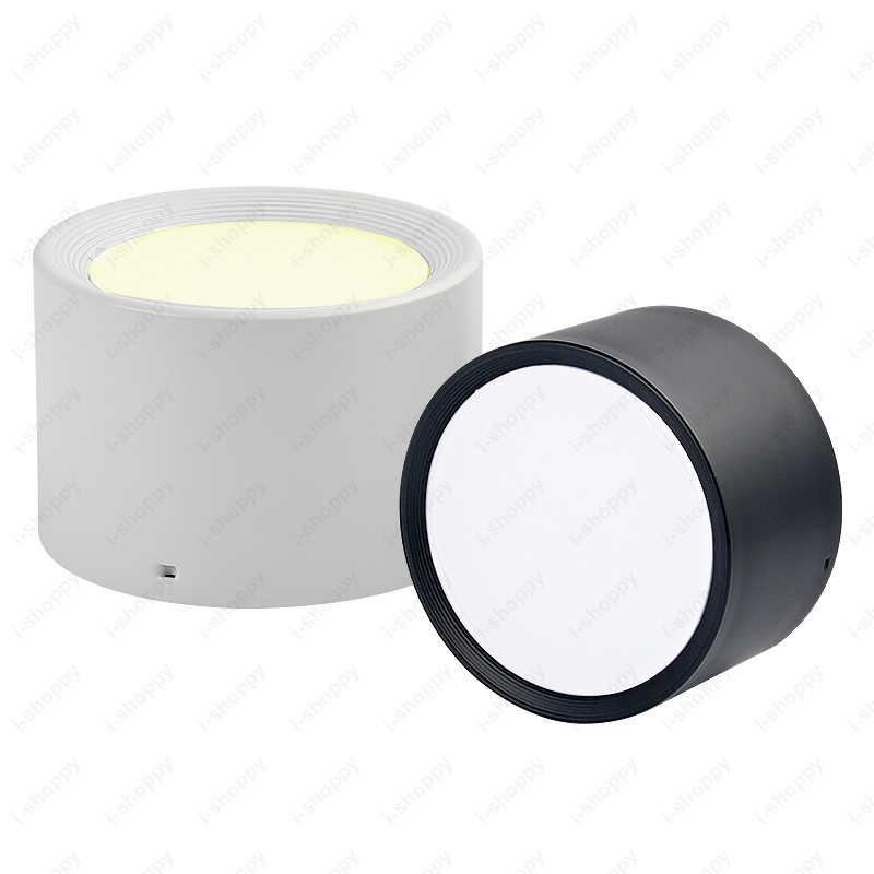 5W/12W/18W LED Ceiling Light Fixture Anti-fog Lamp Acrylic Living Room Bathroom Shop Black/White Shell