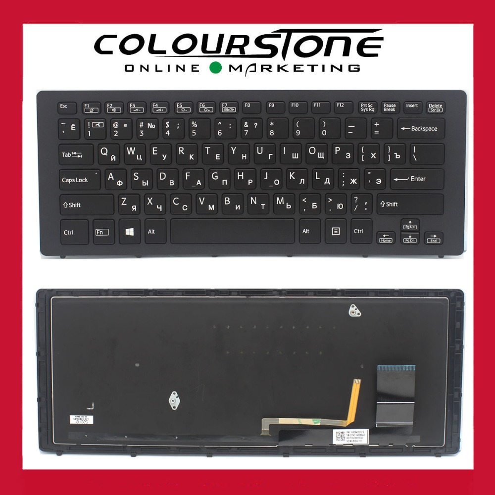 US Engraved to Russian Black keyboard For Sony Vaio SVF15N Multi-Flip SVF15N1Z2EB SVF15N1Z2E/B laptop keyboard 9Z.NABBQ.701