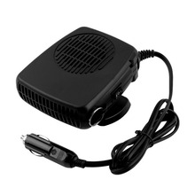 12V Car Auto Vehicle Portable Electric Heater Heating Fan Defroster Window Screen Demister Hot Warm Air Conditioner Black