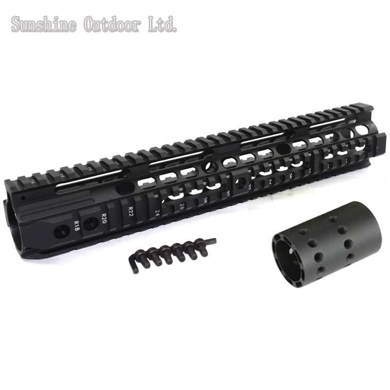 Hunting Aluminum Picatinny Rail 12.6 inch Handguard Rail System for AEG M4 / M16 BK hunting picatinny rail 4 25 inch handguard rail cqb tactical rail systems for aeg m4 m16