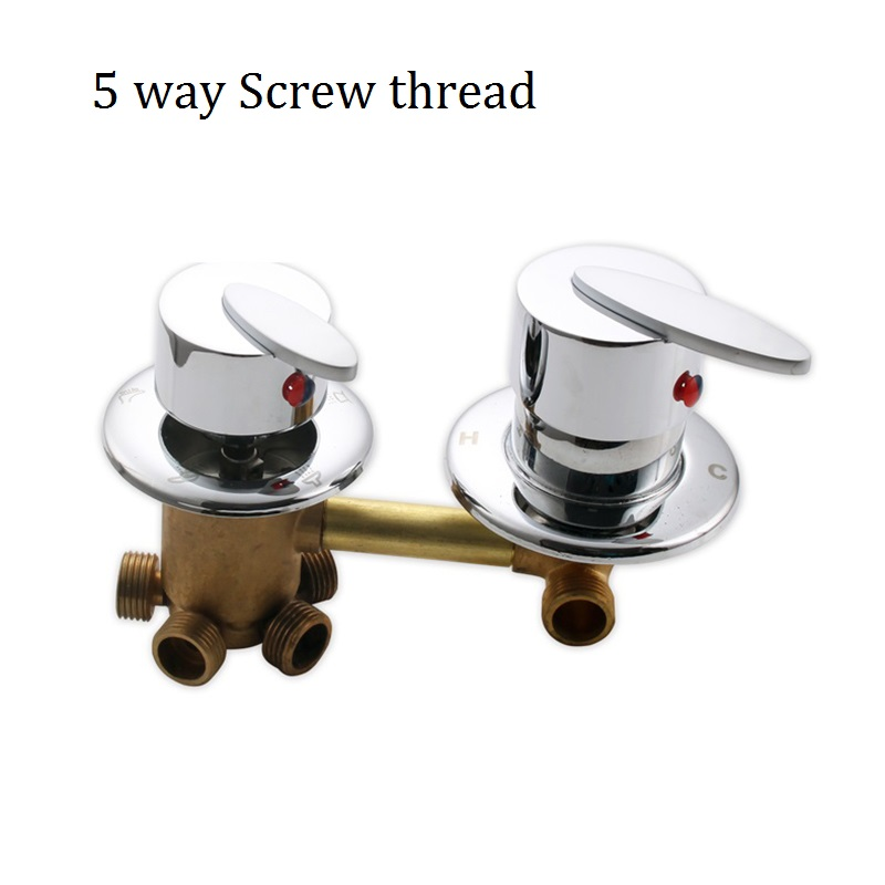 MTTUZK Shower room wall mounted hot and cold faucet mixing valve 3 4 5 ways shower