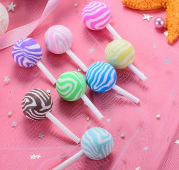 500pcs/lot Polymer clay lollipop DIY decoration Center Crafts, cabochon for Polymer clay deco materials
