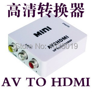 RCA AV to HDMI,Best Price,Free Shipping,Converter Adapter Mini Composite CVBS to HDMI AV2HDMI Converter 1080P composite av cvbs 3rca to hdmi video converter adapter full hd 720p 1080p for hdtv vcr dvd vhs ps3 xbox white new