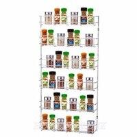 1 Piece 6 Layers Rack Side Shelf Holder Multipurpose Spice Space Storage Kitchen Organizer Holder